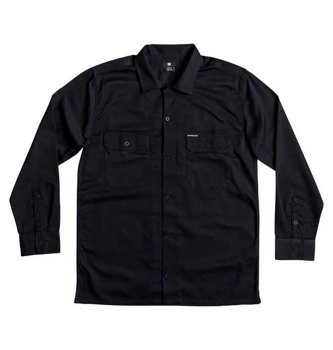 0 Men's Wasdale Long Sleeve Workwear Shirt Blue EDYWT03193 DC Shoes