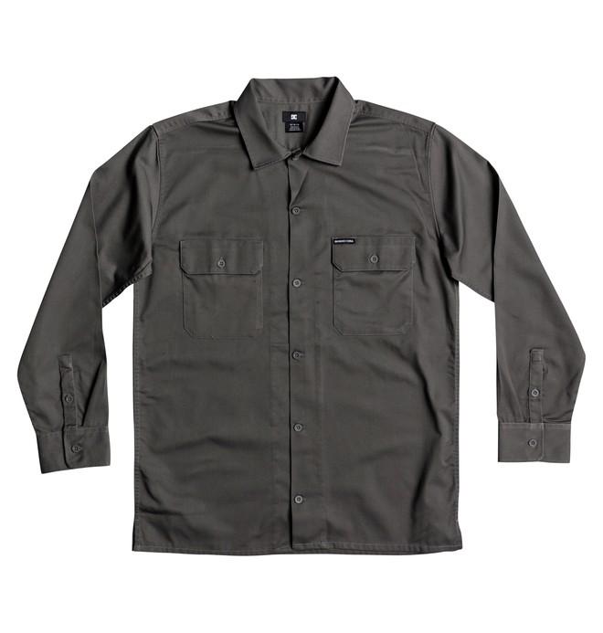 0 Men's Wasdale Long Sleeve Workwear Shirt Black EDYWT03193 DC Shoes