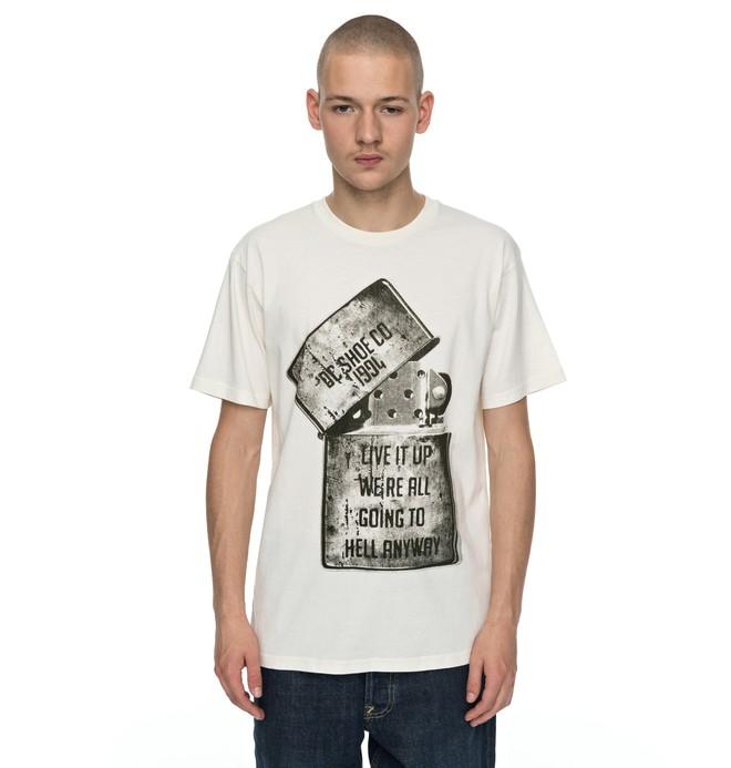 0 Dead Above - T-Shirt White EDYZT03682 DC Shoes
