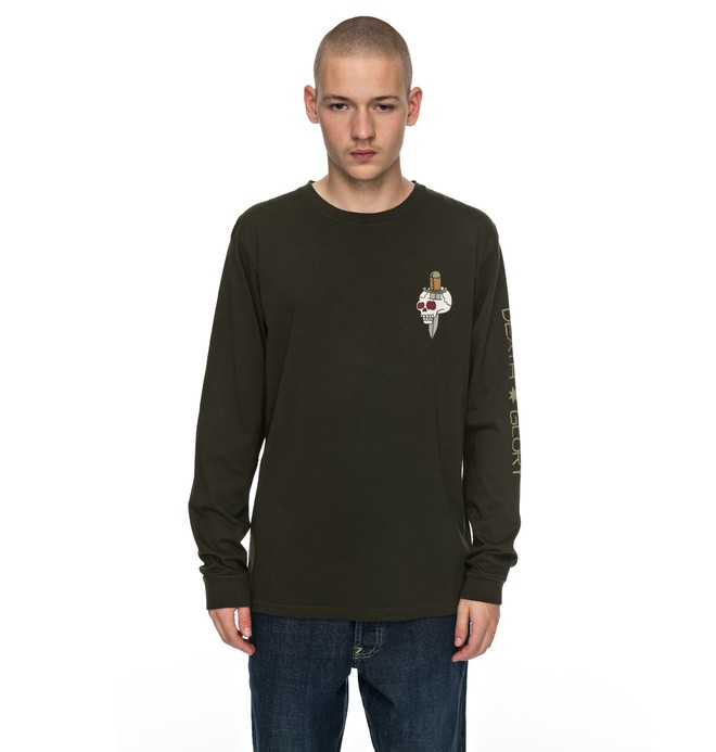 0 Death & Glory - Long Sleeve T-Shirt Brown EDYZT03714 DC Shoes