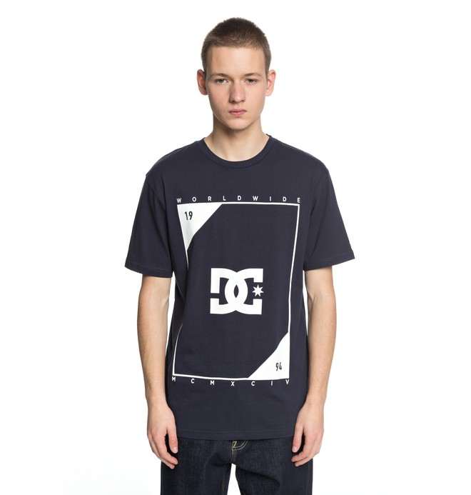 0 Middle Theory - T-Shirt Blue EDYZT03756 DC Shoes