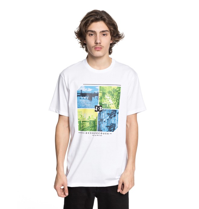 0 City To State - T-Shirt White EDYZT03765 DC Shoes