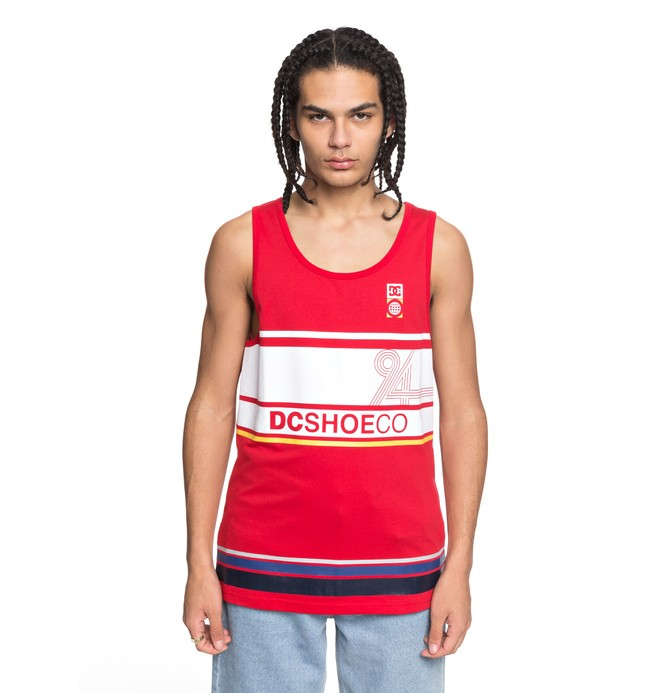 0 Men's Point Guard Tank Red EDYZT03772 DC Shoes