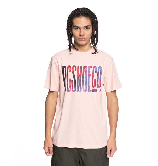 0 Men's Trippy Typed Tee Pink EDYZT03773 DC Shoes