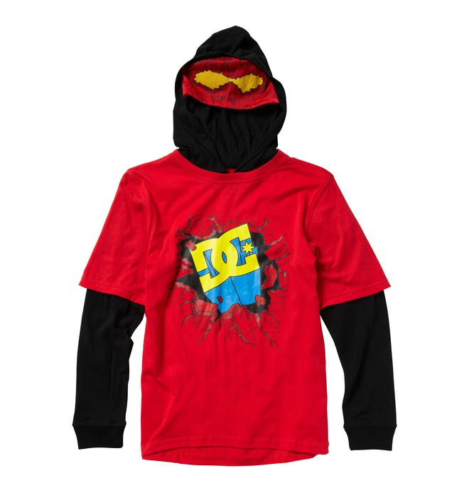 0 Kid's Super DC 2-Fer Hooded Tee  K1210002 DC Shoes