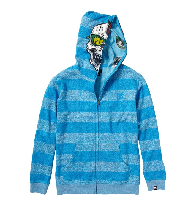 0 Kid's Rebeled Zip Up Face Hoodie  K1860014 DC Shoes