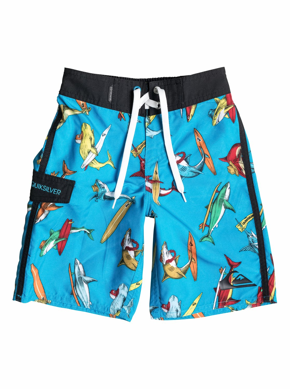 Shark-Print Board Shorts for Boys Product Image | Boys ... |Shark Board Shorts For Men