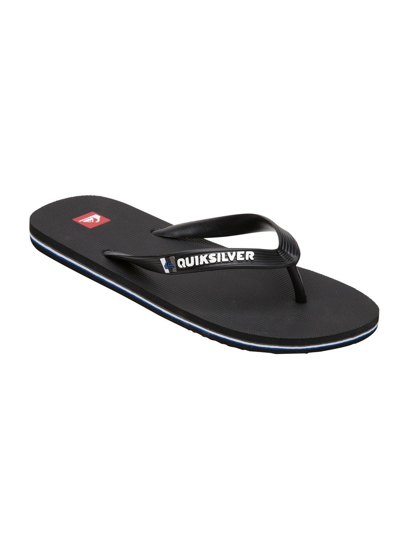 Quiksilver Basis Youth Black Shoes Flip flops Men 3F2nKYUn