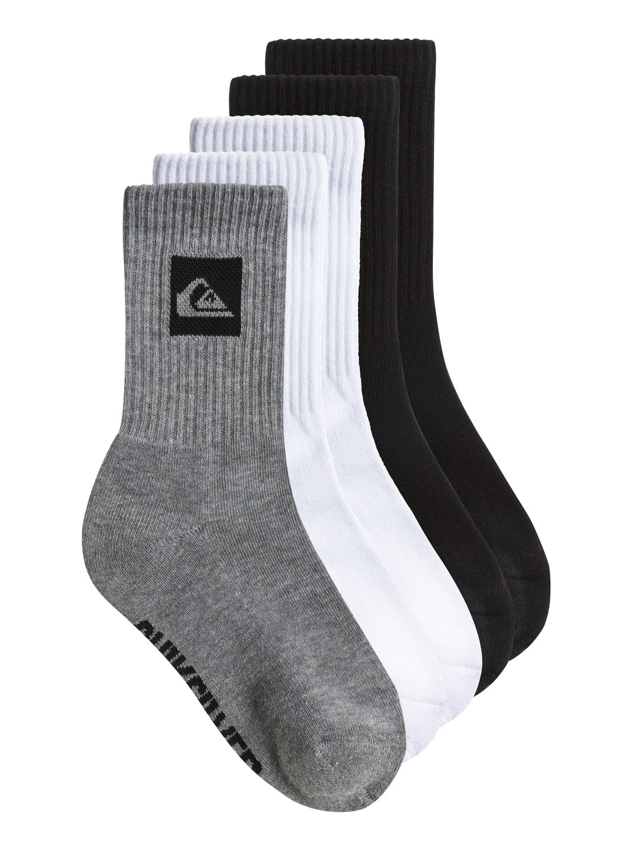 boys 8 16 legacy crew socks 5 pack aqbaa00024 quiksilver