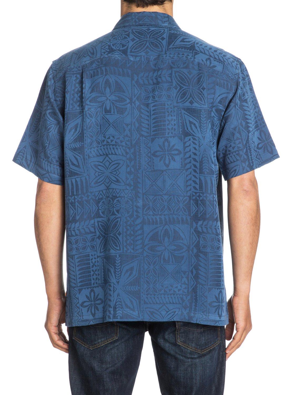 5 Men s Aganoa Bay Short Sleeve Shirt Blue AQMWT03042 Quiksilver 9c99becd71