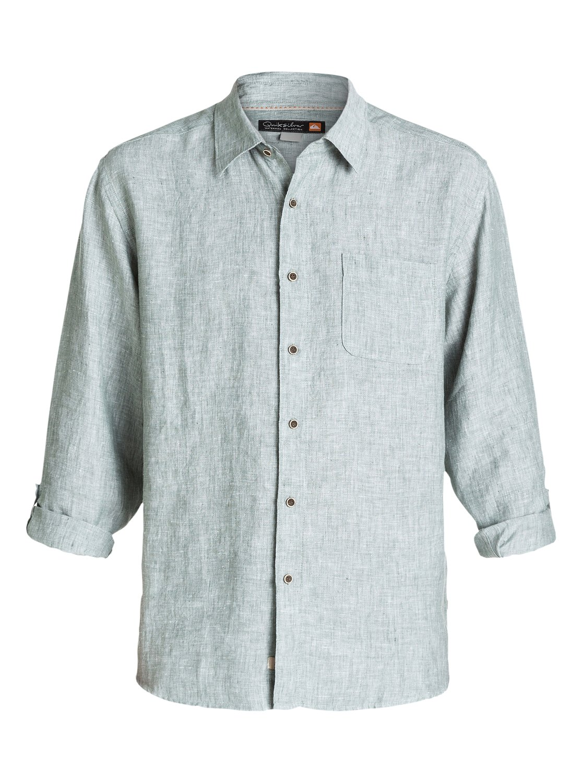 Mens Burgess Isle Long Sleeve Shirt AQMWT03047 | Quiksilver