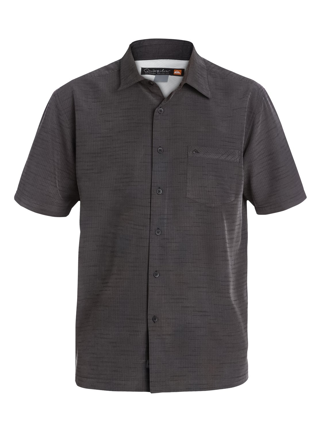 Quiksilver waterman centinela short sleeve shirt for Mens black short sleeve dress shirt