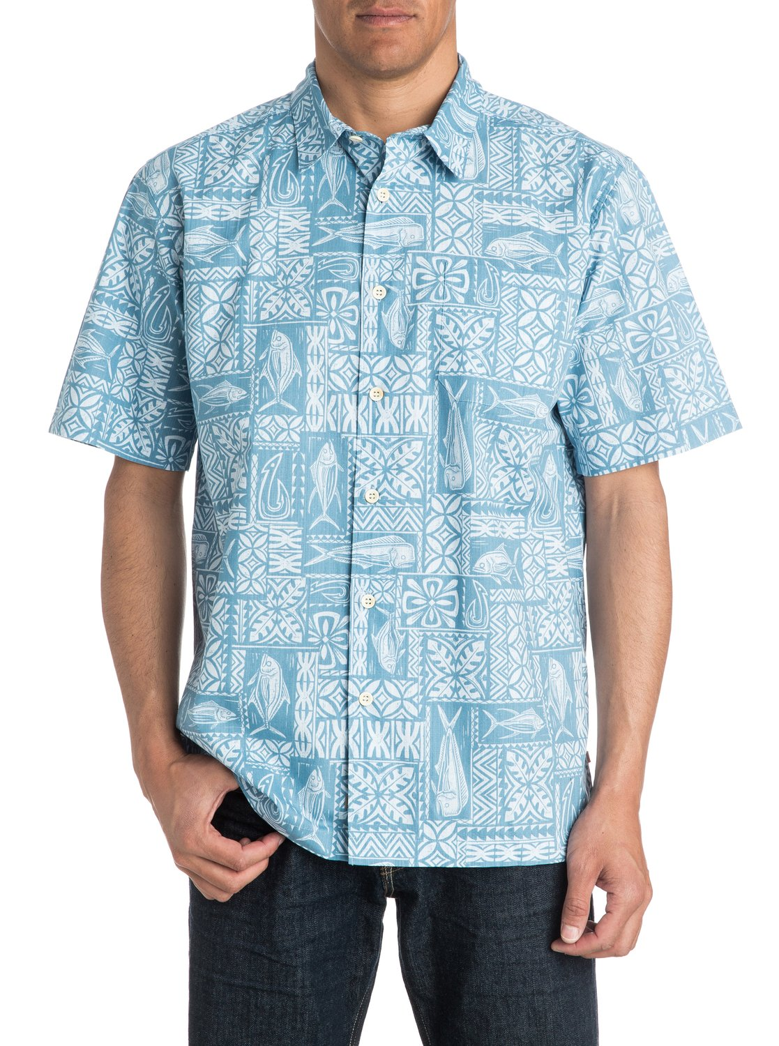 Today's popular retro Rockabilly shirt styles include the button down bowling shirt, long sleeve western shirt, and vintage workwear shirts with themes of hot rods, skulls, music, and classic cars. The most iconic s men's shirt is the tropical Aloha Hawaiian shirt.