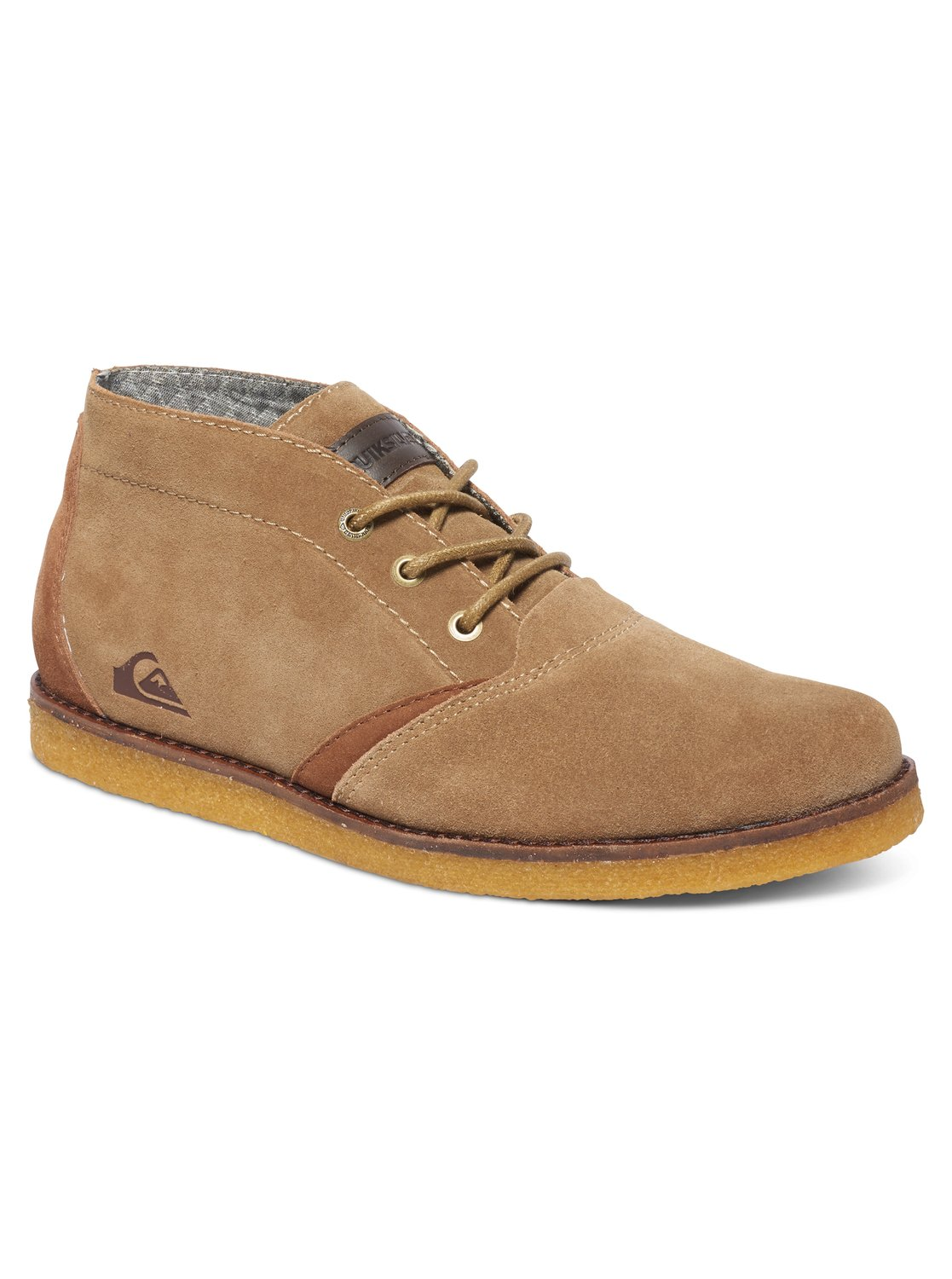 quiksilver harpoon chukka boots desert boots en cuir. Black Bedroom Furniture Sets. Home Design Ideas