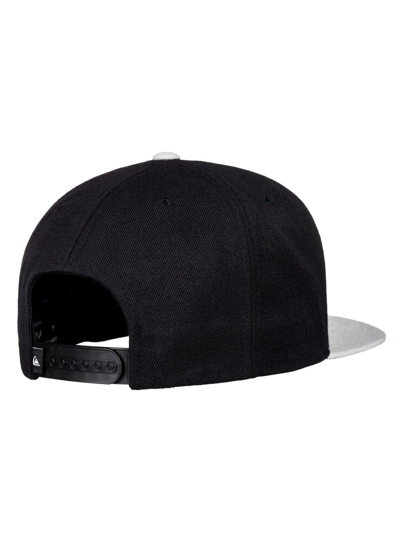 2 Men s Firm Chowder Snapback Hat Black AQYHA04168 Quiksilver 92d6dbceaae