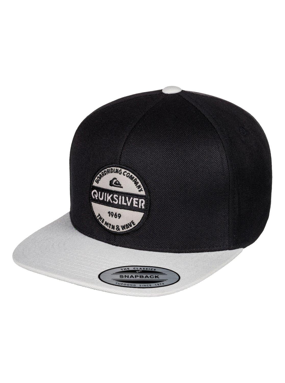 0 Men s Firm Chowder Snapback Hat Black AQYHA04168 Quiksilver c16cd283d94
