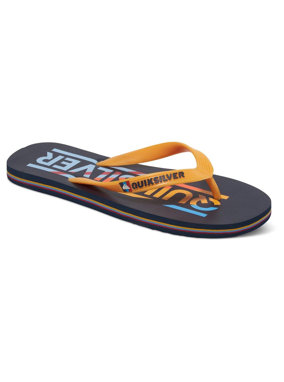 New Quiksilver Molokai Wordmark Flip Flops for Men Online Sale