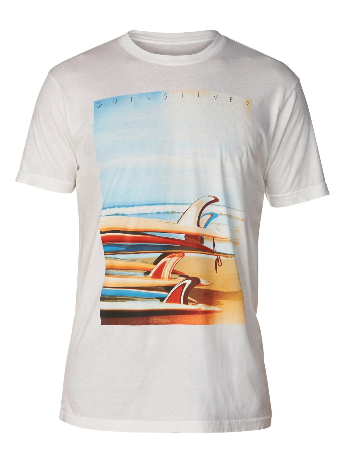 Surf stack slim fit t shirt aqyzt03048 quiksilver for Surf shop tee shirts