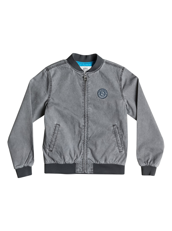 Детская куртка Hidden WondersДетская куртка Hidden Wonders от Quiksilver.ХАРАКТЕРИСТИКИ: классический трикотаж, отделка синтетическим поплином, рукава на подкладке из тафты, манжеты, подол и воротник в рубчик.СОСТАВ: 100% хлопок.<br>