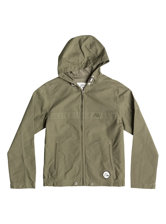 Детская куртка-парка ShorelineДетская куртка-парка Shoreline от Quiksilver.ХАРАКТЕРИСТИКИ: плотная полусинтетика, стандартный крой, два плоских прорезных кармана, карман на рукаве.СОСТАВ: 68% хлопок, 32% нейлон.<br>