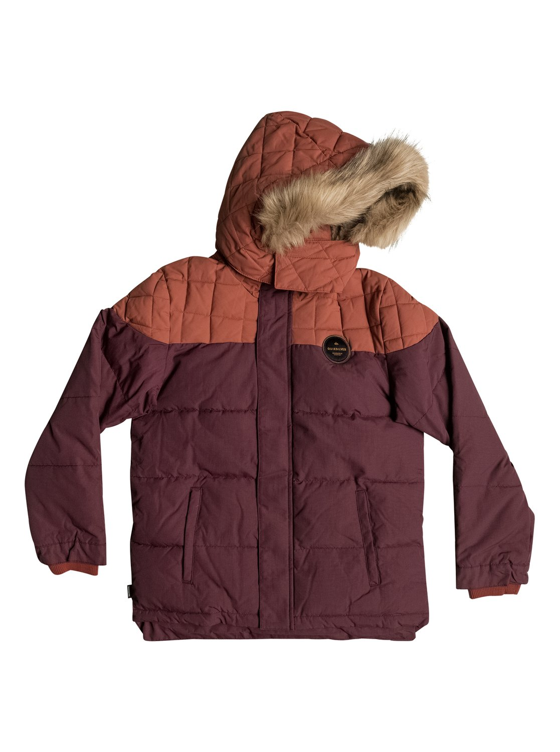 Red Bud Quilted - Short Parka