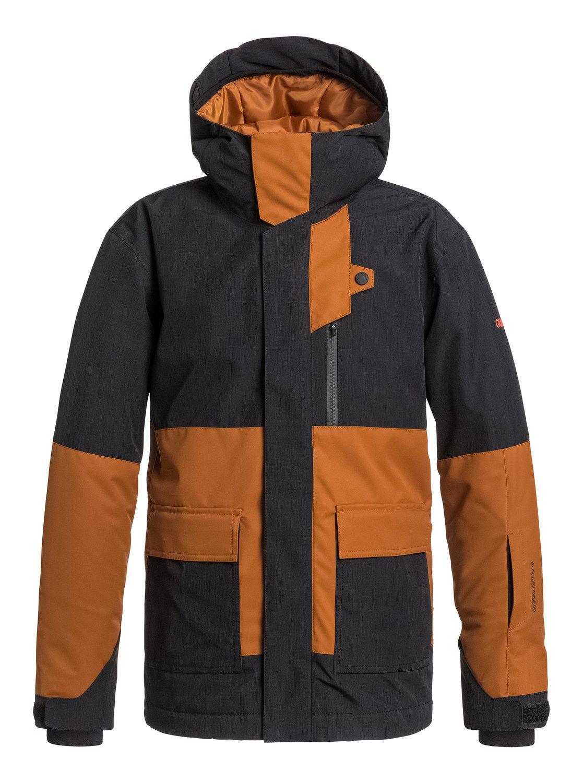 YorkСноубордическая куртка York для мальчиков из новой сноубордической коллекции Quiksilver. ХАРАКТЕРИСТИКИ: критические швы проклеены, сеточная вентиляция, надежный фиксированный капюшон, защита подбородка от натирания молнией из микрофибры, медиакарман. СОСТАВ: 100% полиэстер.<br>