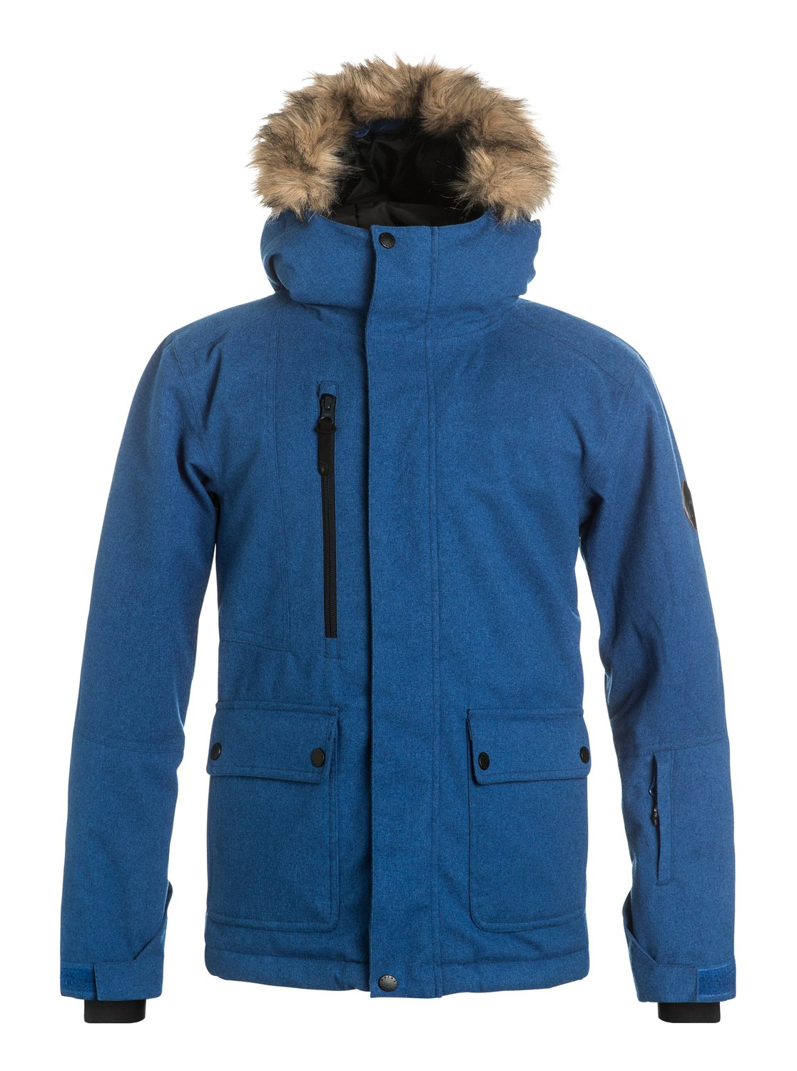 Сноубордическая куртка SelectorThe parka-inspired Selector snow jacket for boys blends street style with mountain-ready tech. 10K Quiksilver DryFlight® technology for reliable waterproof and breathable protection, an easy-to-wear regular fit allows space to layer and Warmflight® insulation level 3 with a sherpa, chambray and lightweight breathable taffeta lining keeps it cosy on the coldest winter days<br>