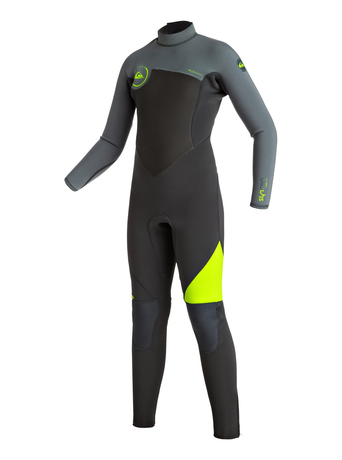 Syncro 3/2mm - Back Zip Full WetsuitF'N lite neoprene technology makes the Syncro 3/2mm wetsuit a lightweight winner in the warmth stakes. Added protection against wind and water comes from Thermal Smoothie panels on the chest and back. Flatlock seams that are flexible and soft make even the longest surf session a comfortable one. Hydrowrap adjustable neck closure seals in heat and keeps water out.<br>