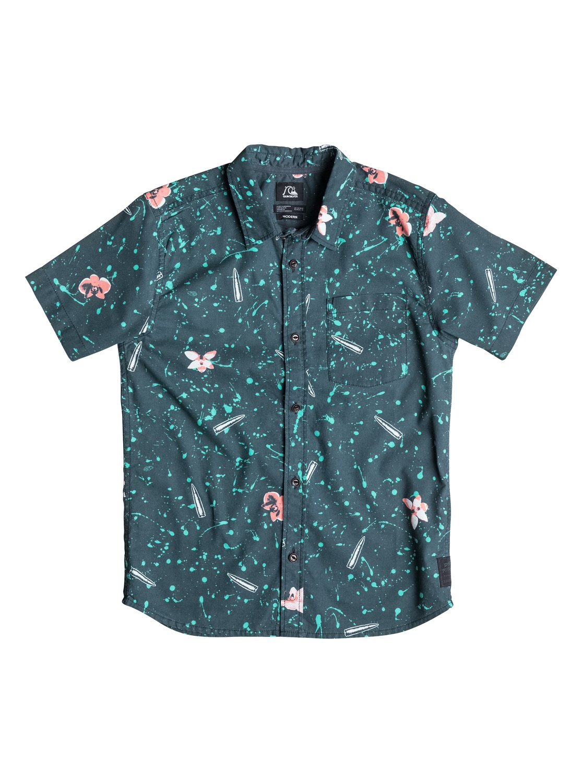 Boys Sweet And Sour Short Sleeve ShirtРубашка с коротким рукавом Sweet, Sour для мальчиков от Quiksilver. <br>ХАРАКТЕРИСТИКИ: короткие рукава, натуральный поплин, крой Modern, художественный принт. <br>СОСТАВ: 100% хлопок.<br>