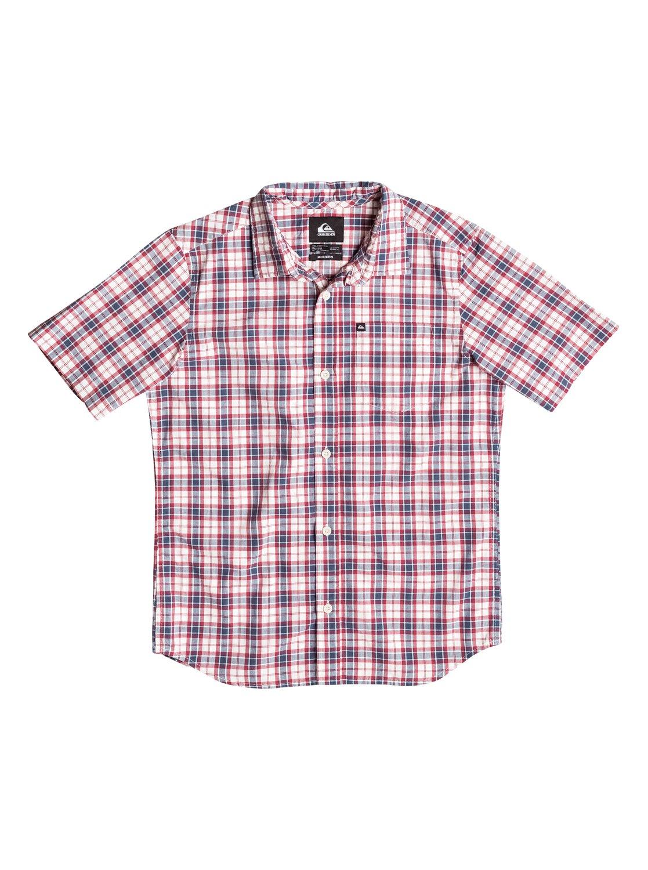 Boys Everyday Check Short Sleeve ShirtРубашка с коротким рукавом Everyday Check для мальчиков от Quiksilver. <br>ХАРАКТЕРИСТИКИ: натуральный поплин, стандартный крой, технология щадящей окраски в клетку, нагрудный карман. <br>СОСТАВ: 100% хлопок.<br>
