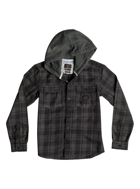 Рубашка Snap Up Flannel с длинным рукавом и капюшоном