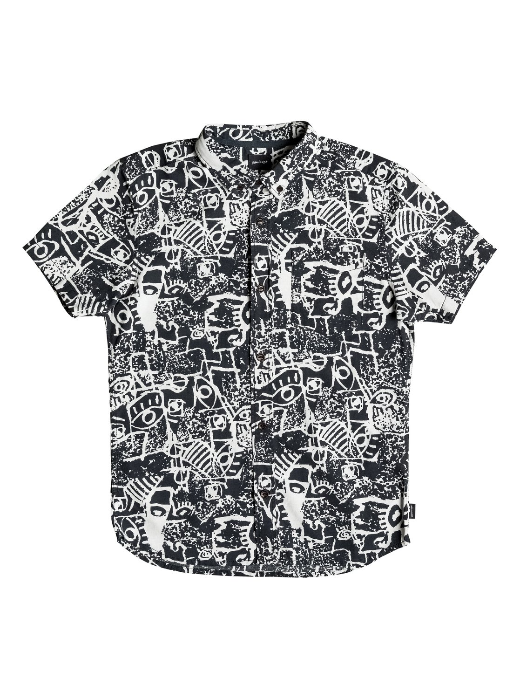 Рубашка Hypnosis с коротким рукавомЭта Детская рубашка с коротким рукавом — отличное средство стильного гипноза. Она сшита из мягкого хлопчатобумажного поплина, а ее крой Modern — чуть более длинный и узкий по сравнению с классическим прямым. Воротник на пуговицах и ярлык с изнанки с надписью I Am The Next Surf Hero («Я стану новой звездой серфинга») прилагаются.<br>