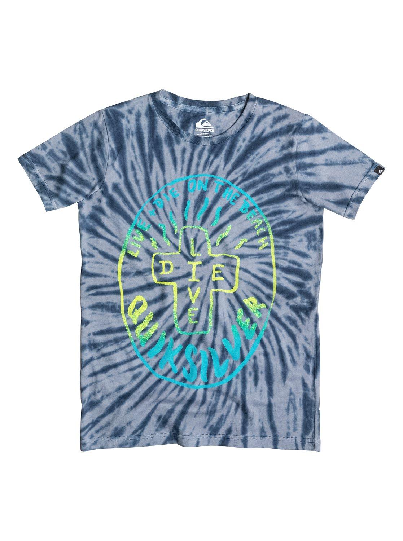 Boys Live And Die T-ShirtДетская футболка Live, Die от Quiksilver. <br>ХАРАКТЕРИСТИКИ: округлый вырез, мягкий натуральный трикотаж, обработка acid wash и окрашивание tie-dye придают изделию ретро-стиль, принт спереди. <br>СОСТАВ: 100% хлопок.<br>