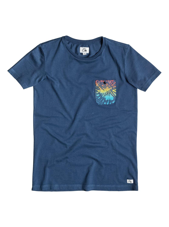 Boys Pick Pocket T-ShirtДетская футболка Pick Pocket от Quiksilver. <br>ХАРАКТЕРИСТИКИ: округлый вырез, нагрудный карман, мягкий натуральный трикотаж, изделие окрашено после изготовления. <br>СОСТАВ: 100% хлопок.<br>