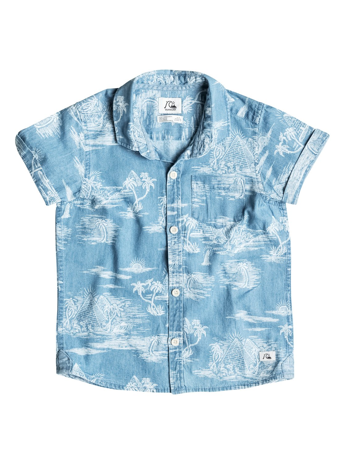 Quiksilver Boy's Pyramid Point Short Sleeve Shirt