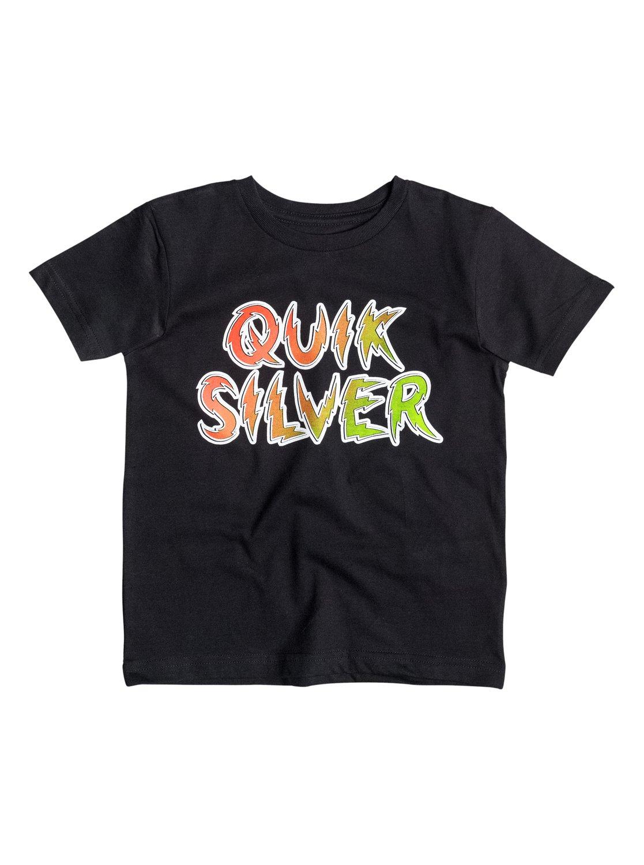Boys Classic High Voltage T-ShirtДетская футболка Classic High Voltage от Quiksilver.ХАРАКТЕРИСТИКИ: округлый вырез, мягкий натуральный трикотаж, принт спереди, принт с изнанки воротника сзади.СОСТАВ: 100% хлопок.<br>