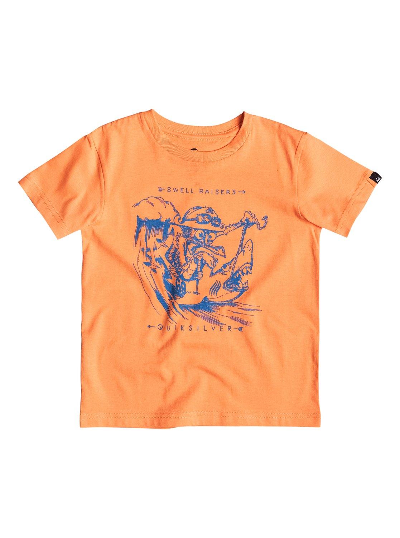 Boys Classic Seagull Raise T-ShirtДетская футболка Classic Seagull Raise от Quiksilver. <br>ХАРАКТЕРИСТИКИ: округлый вырез, мягкий натуральный трикотаж, принт спереди, принт с изнанки воротника сзади. <br>СОСТАВ: 100% хлопок.<br>