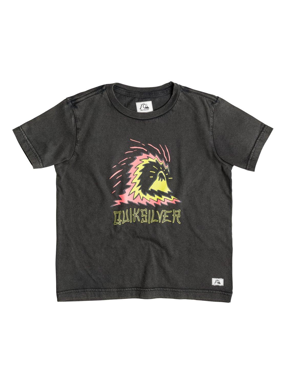 Boys Storm T-ShirtДетская футболка Storm от Quiksilver.ХАРАКТЕРИСТИКИ: мягкий натуральный трикотаж, изделие окрашено по технологии acid wash после изготовления, крупный принт спереди, декоративная нашивка.СОСТАВ: 100% хлопок.<br>
