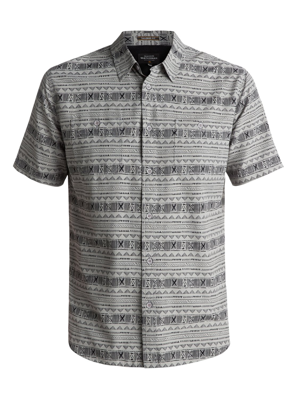 0 Waterman Wake Koro Miri Short Sleeve Shirt Grey EQMWT03074 Quiksilver dff6c69732