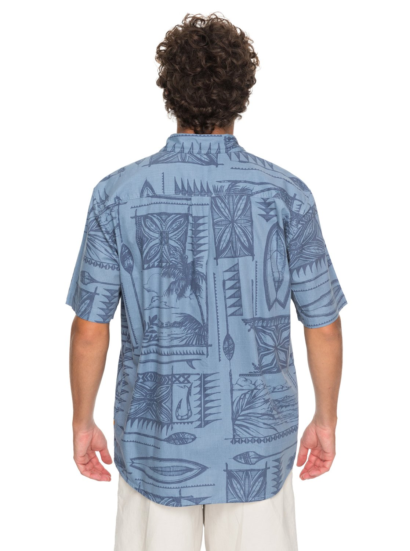 2 Waterman Surfyard Stack Short Sleeve Shirt Blue EQMWT03136 Quiksilver 2e81617fc4
