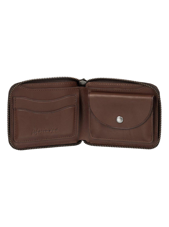Full Zip Leather Wallet Eqyaa03365 Quiksilver