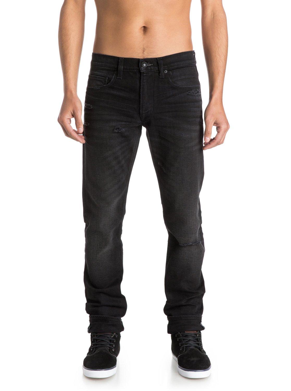 distortion oldy black 32 slim fit jeans eqydp03121. Black Bedroom Furniture Sets. Home Design Ideas