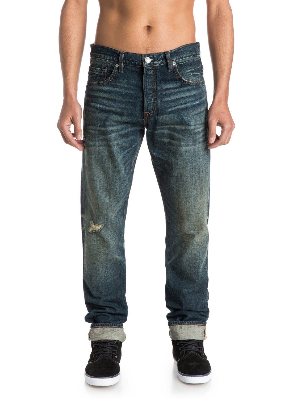 kracker oldest 32 straight tapered fit jeans eqydp03126 quiksilver. Black Bedroom Furniture Sets. Home Design Ideas