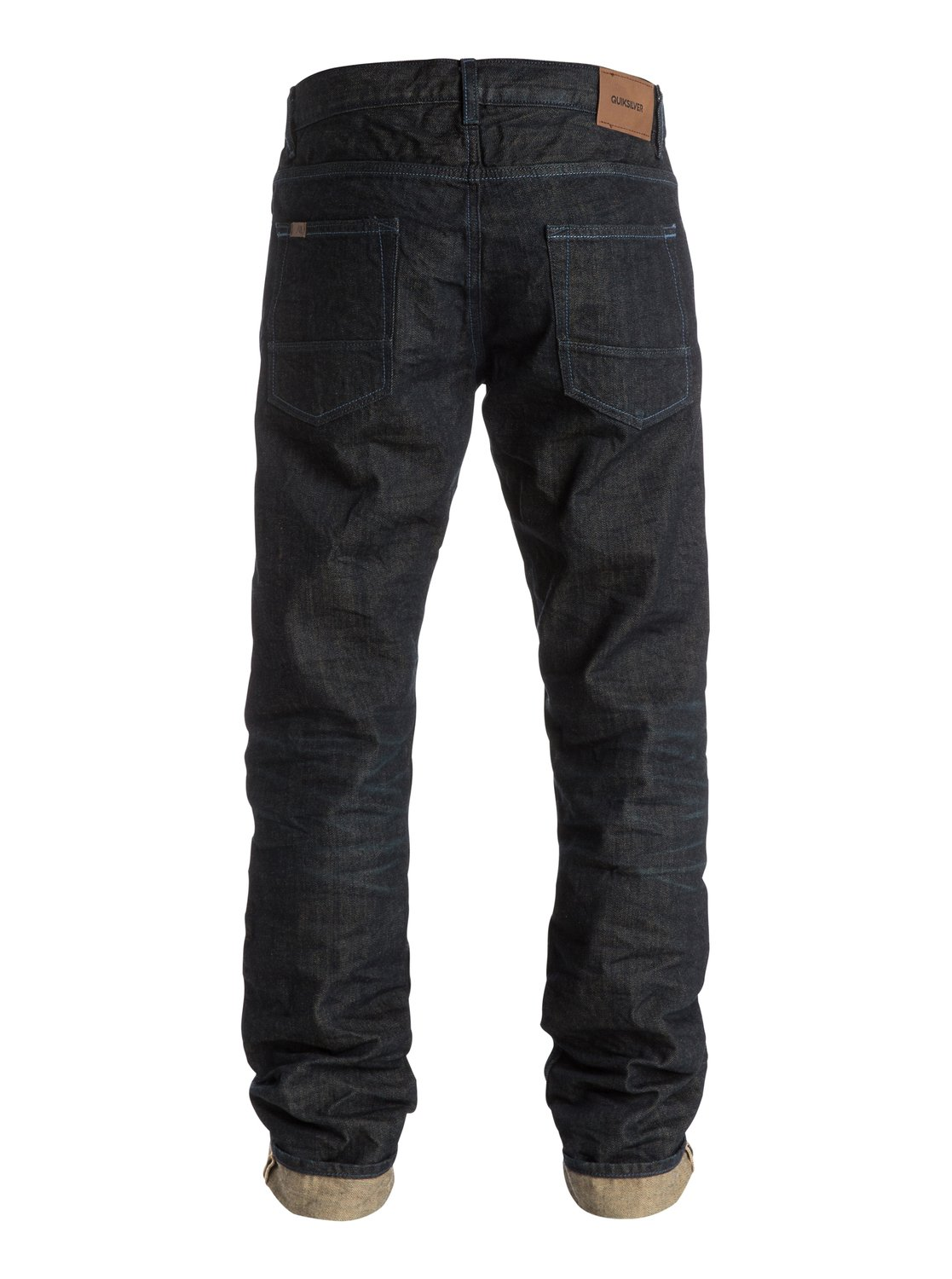 kracker crumpled 34 straight tapered fit jeans eqydp03147 quiksilver. Black Bedroom Furniture Sets. Home Design Ideas