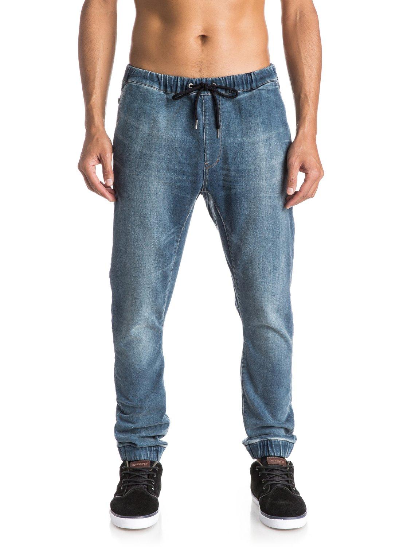 fonic denim fleece slim fit jeans eqydp03193 quiksilver. Black Bedroom Furniture Sets. Home Design Ideas