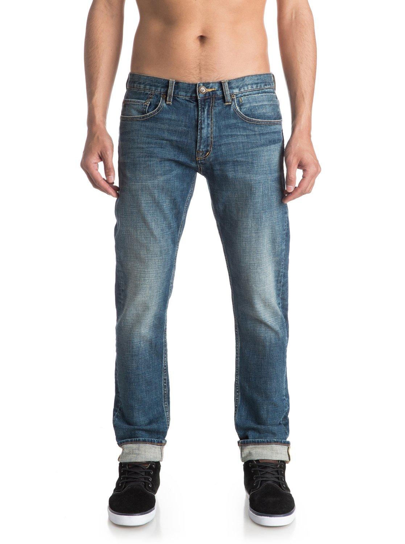 distorsion medium blue 32 slim fit jeans eqydp03220. Black Bedroom Furniture Sets. Home Design Ideas
