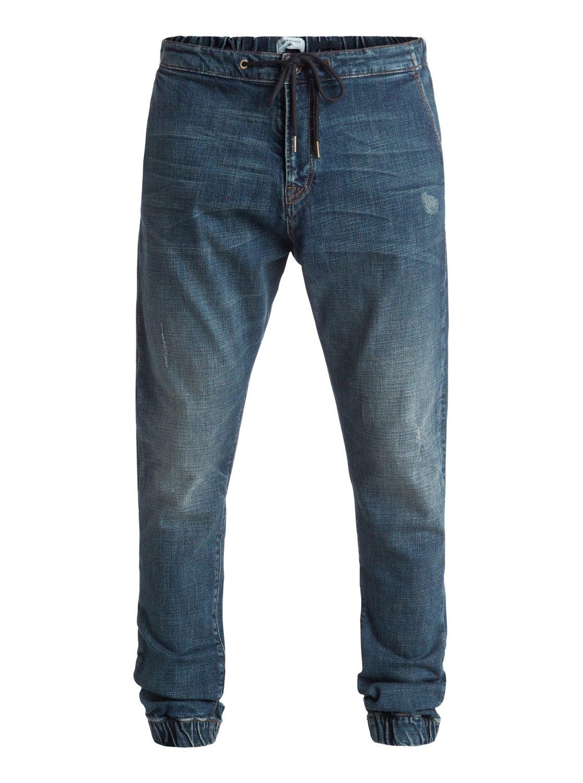Bradfonic Used blue destroy 32 - pantalon molleton effet denim pour homme - quiksilver