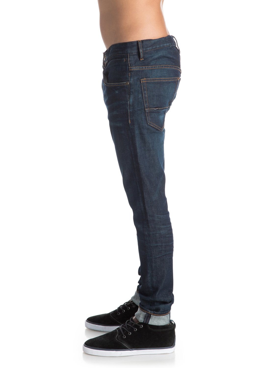 low bridge icy blue 32 skinny fit jeans eqydp03237 quiksilver. Black Bedroom Furniture Sets. Home Design Ideas