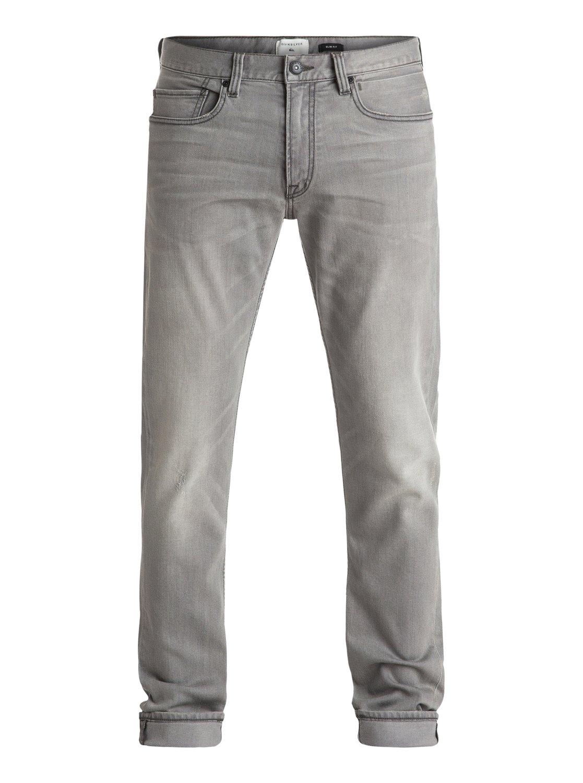 Distorsion Grey damaged 34 - jean coupe slim pour homme - quiksilver