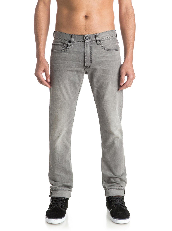 distorsion grey damaged 34 slim fit jeans eqydp03251. Black Bedroom Furniture Sets. Home Design Ideas